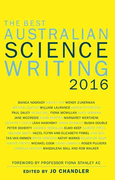 The Best Australian Science Writing 2016 book cover
